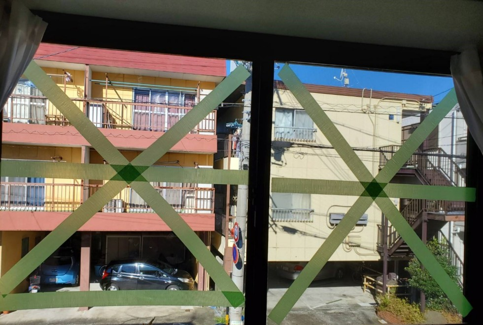 台風19 窓
