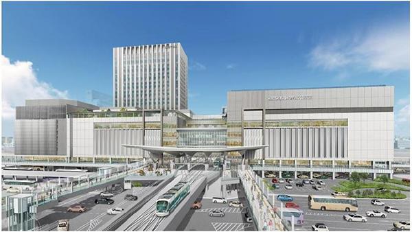 広島駅完成図